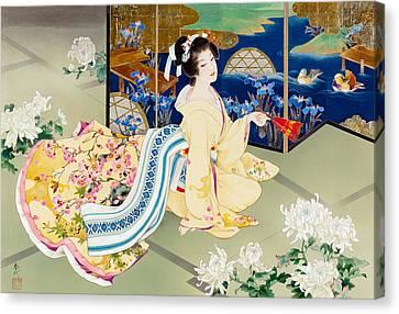 Harmonious Canvas Print - Shiragiku by Haruyo Morita