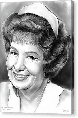 Shirley Booth Canvas Print by Greg Joens