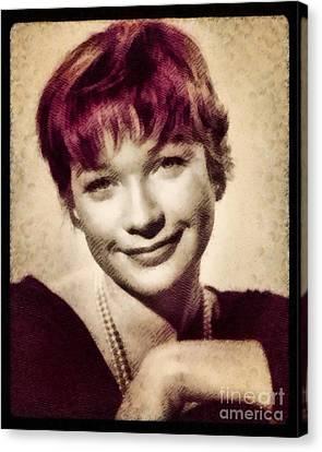 Shirley Maclaine, Hollywood Actress By John Springfield Canvas Print by John Springfield