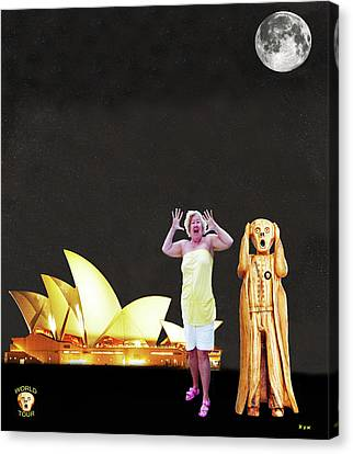 Shirley Screams At The Sydney Opera House Canvas Print by Eric Kempson