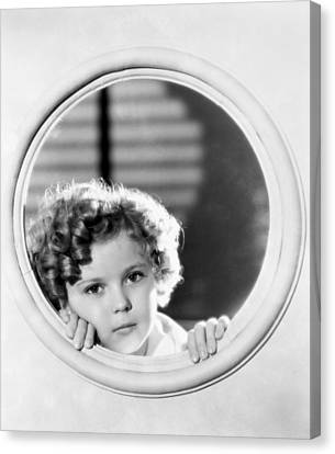 Shirley Temple (1928-2014) Canvas Print by Granger