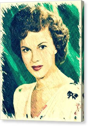 Shirley Temple By John Springfield Canvas Print by John Springfield