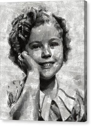 Shirley Temple By Mary Bassett Canvas Print by Mary Bassett