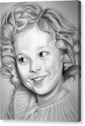 Black Top Canvas Print - Shirley Temple by Fred Larucci