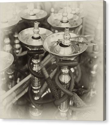 Shisha Pipes In Qatar Retro Canvas Print by Paul Cowan