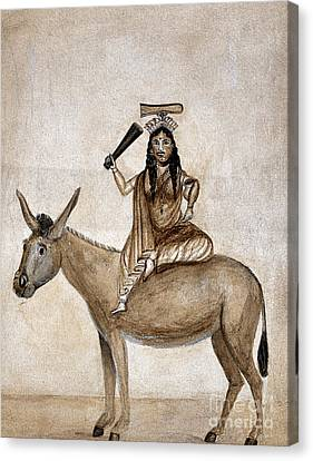 Shitala Mara, Hindu Goddess Of Smallpox Canvas Print by Wellcome Images