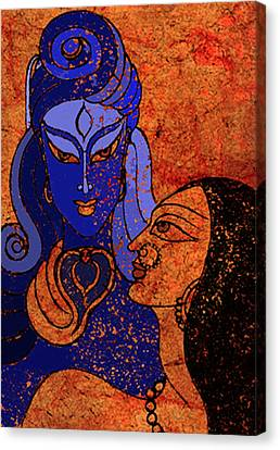 Shiva And Shakti Canvas Print by Sonali Chaudhari