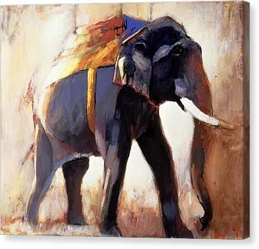 Shivaji  Khana Canvas Print by Mark Adlington