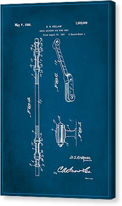 Shock Absorber Patent Drawing 2a Canvas Print
