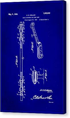 Shock Absorber Patent Drawing 2b Canvas Print