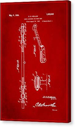 Shock Absorber Patent Drawing 2e Canvas Print