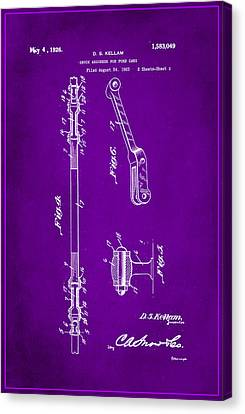 Shock Absorber Patent Drawing 2g Canvas Print