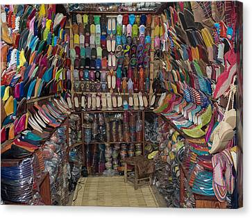 Shoe Store, Essaouira, Morocco Canvas Print by Panoramic Images