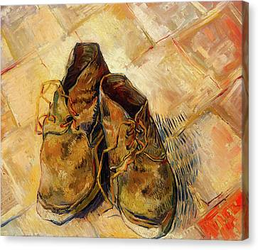 Canvas Print featuring the painting Shoes                                   by Vincent van Gogh