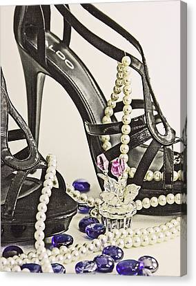 Shoes And Pearls Canvas Print by Jim Justinick