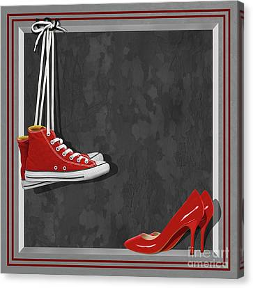 Shoes For Every Occasion Canvas Print by Monika Juengling
