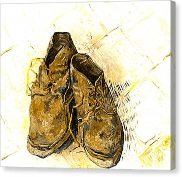Canvas Print featuring the photograph Shoes by John Stephens