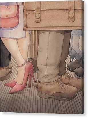 Shoes Canvas Print by Kestutis Kasparavicius