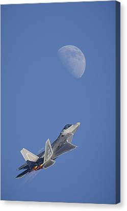 Canvas Print featuring the photograph Shoot The Moon by Adam Romanowicz