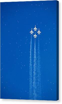 Shooting Stars Canvas Print by Paul Ge