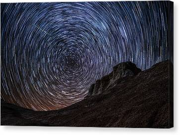 Shooting The Mines Canvas Print by Darren  White