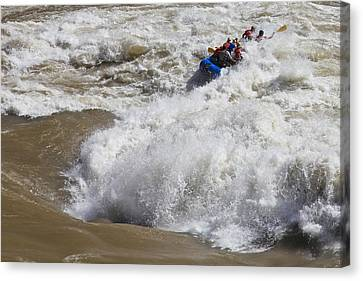 Shooting The Rapids Canvas Print by Mike Buchheit