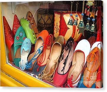 Shop On Rue Daubenton Canvas Print