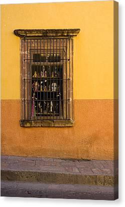 San Miguel De Allende Canvas Print - Shop Window San Miguel De Allende by Carol Leigh