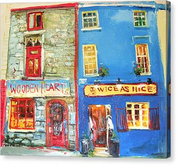 Shopfronts Galway Canvas Print by Conor McGuire