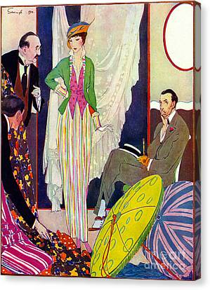 Canvas Print featuring the photograph Shopping 1914 by Padre Art