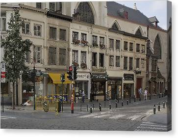 Shopping Morning Canvas Print by Cecil Fuselier
