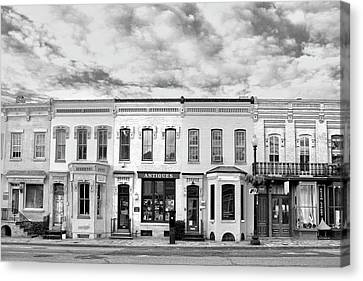 Canvas Print featuring the photograph Shops by Mitch Cat