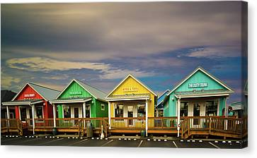 Shops Of Ocean Shores Canvas Print