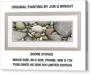 Shore Stones Canvas Print by Jon Q Wright