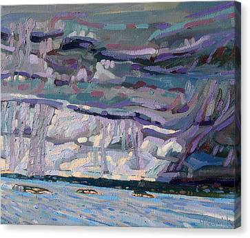 Shore To Shore Showers Canvas Print by Phil Chadwick
