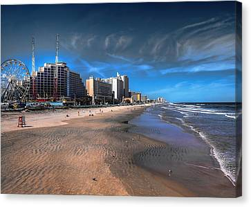 Canvas Print featuring the photograph Shoreline by Jim Hill