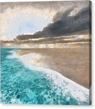 Shoreline Painted Canvas Print