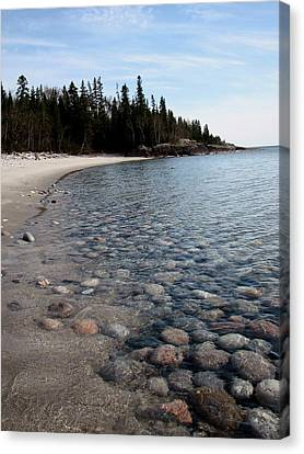 Shoreline Serenity Canvas Print by Laura Wergin Comeau