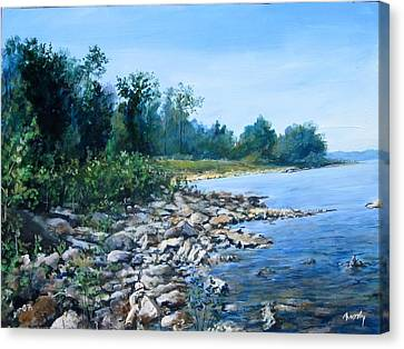 Shoreline Canvas Print by William  Brody
