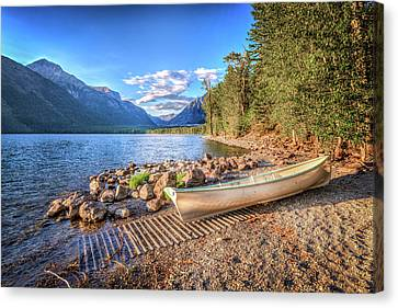 Shores Of Lake Mcdonald Canvas Print by Spencer McDonald