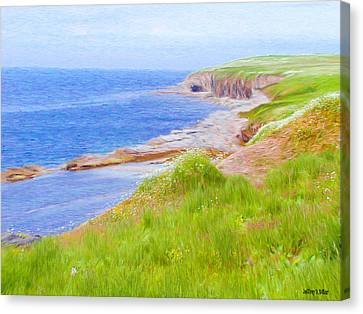 Shores Of Newfoundland Canvas Print by Jeff Kolker