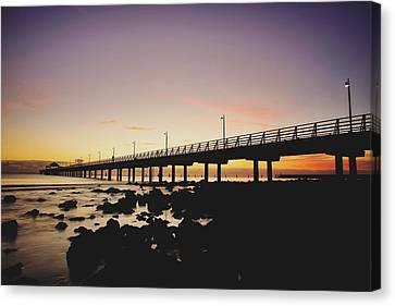 Shorncliffe Pier At Dawn Canvas Print