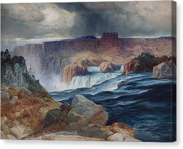 Shoshone Falls Idaho Canvas Print by Thomas Moran