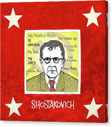 Shostakovich Canvas Print by Paul Helm