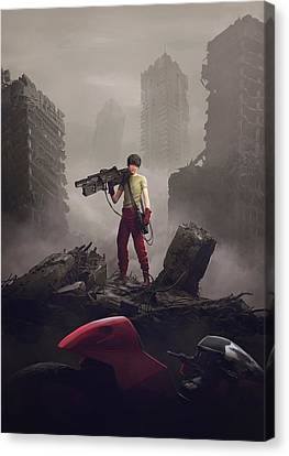Shotaro Kaneda Canvas Print by Guillem H Pongiluppi