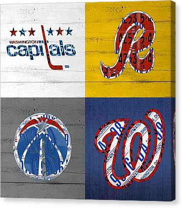 Fantasy Canvas Print - Shout To #washingtondc #capitals by Design Turnpike