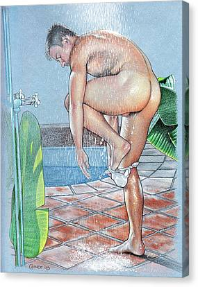 Shower Canvas Print by Chance Manart