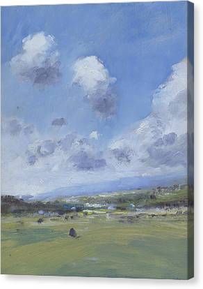 Shower Clouds Over The Yar Valley Canvas Print by Alan Daysh