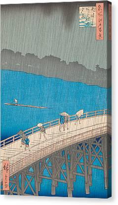 Shower Over Ohashi Bridge Canvas Print by Hiroshige