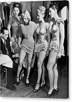 Showgirl Canvas Print - Showgirls Get Smallpox Shots by Underwood Archives